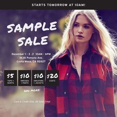 OMG. The #BBDSampleSale starts tomorrow! Click the link in our bio to RSVP & we'll see you there!