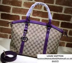 e34db85801f Gucci GG Canvas Convertible Tote Bag 341503 Purple 2016