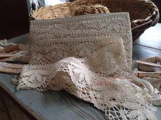 Antique Lace Vintage Lace Trim, French Cotton Bobbin Lace. 7 ys Vintage Wedding, Furnishings by BrocanteArt on Etsy