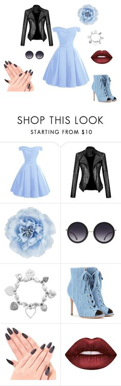 """mmmm"" by sabii-dlii ❤ liked on Polyvore featuring Monsoon, Alice + Olivia, ChloBo, Gianvito Rossi and Lime Crime"