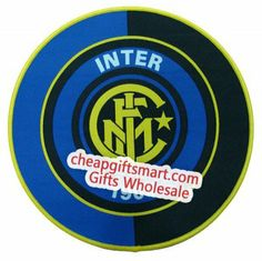 Inter Milan F.C. Logo Edge-Lock Cloth Surface Round Mouse Mat