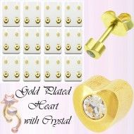 Wholesale Body Jewelry Gold Plated Heart Stud With Cz Body Jewelry Wholesale Body Jewelry, Gold Jewelry, Place Cards, Plating, Place Card Holders, Heart, Earrings, Ear Rings, Stud Earrings