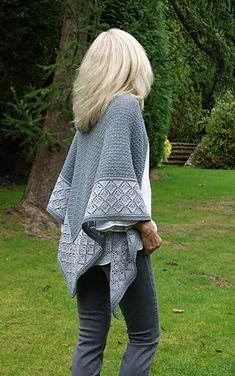 Lightweight yet substantial is the best way to describe 'Storm Clouds' shawl.