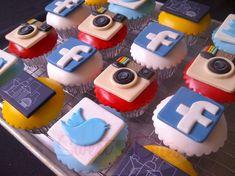 Socials Networks Cupcakes ~!