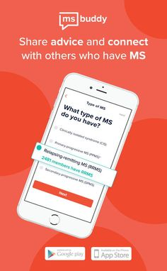 Download Healthline's first-ever app, MS Buddy.💪📲  MS Buddy is an app designed specifically for the multiple sclerosis community. Connecting members daily while providing them with the latest MS news. Download now to start connecting with others. Ms Walk, What Type, Central Nervous System, Relapse, Multiple Sclerosis, Chronic Pain, Android Apps, App Design, The Cure