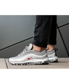 48a2453f672 HOT Nike Air Max 97 OG QS Silver Bullet Trainer