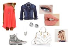 """Sparkly Converse"" by brooklynb39 ❤ liked on Polyvore featuring Converse, maurices, Steve Madden and FOSSIL"