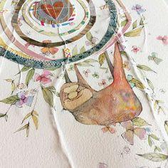 spirit sloth - slow and steady with a smidge of sass. #creativegirl #danielledonaldsonart