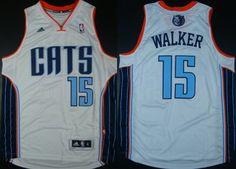Charlotte Bobcats #15 Kemba Walker Revolution 30 Swingman White Jersey