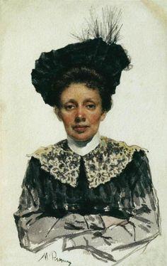 Portrait of an Unknown Woman,   Ilya Repin