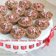Sweet Twist of Blogging: Chocolate Cream Cheese Nutella Cups