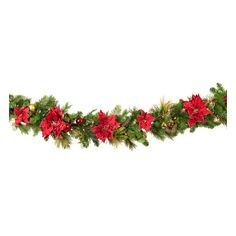 Crimson Harvest Battery Operated LED Christmas Garland, Warm White... ❤ liked on Polyvore featuring home, home decor, holiday decorations, christmas, xmas, filler, outdoor home decor, christmas home decor, outdoor holiday decor and christmas holiday decorations