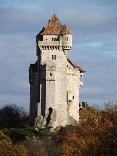 Liechtenstein castle near Vienna, Austria - Liechtenstein castle is one of the most remarkable medieval fortified buildings throughout Austria.