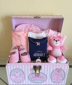 Pretty Ballerina Princess Baby Girl Gift Basket