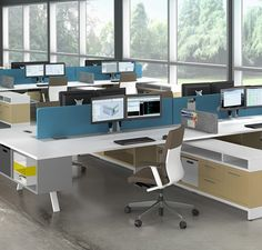 Bench workstations from Crest Office Furniture. Allow us to plan your open office. Better service, better value, a better office - Crest Office Furniture. Corporate Interiors, Office Interiors, Corporate Offices, Modern Offices, Open Office, Small Office, Office Spaces, Office Table, Office Decor