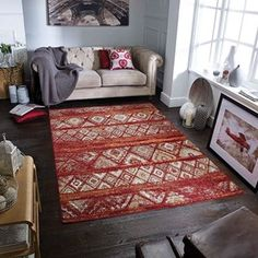 Zarah Rugs 190 B buy online from the rug seller uk Red Rugs, Room, Cabin Rugs, Traditional Design, Contemporary Interior, Room Inspiration, Rugs, Living Room Inspiration, Room Rugs