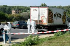 Police in Austria say the bodies of 71 people, believed to be migrants, were discovered in an abandoned lorry found near the Hungarian border on Thursday. The victims included 59 men, eight women and four children who are thought to have been dead for about two days. Officials said the group appeared to be migrants from Syria and probably died after suffocating in the vehicle. Police in Hungary say they have arrested four people - three Bulgarians and one Afghan - linked to the lorry.