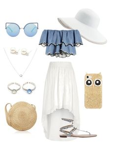 Vacance Outlook by oneirojewelry on Polyvore featuring polyvore, fashion, style, HUISHAN ZHANG, River Island, Eric Javits, Kate Spade, Matthew Williamson and clothing