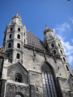 Stephansdom Vienna, Ramanesque Towers on the west front, with the Giant's Door Flying Buttress, Just Go, Austria, Notre Dame, Barcelona Cathedral, Opera House, Temple, Places To Go, Opera