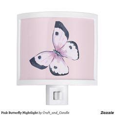 Pink Butterfly Nightlight