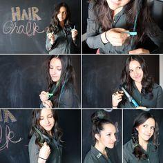 Hair Chalk – Como fazer mechas coloridas no cabelo com giz pastel foto tutorial passo a passo