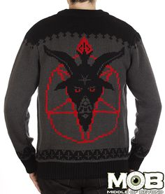 Goat Head Pentagram Satanic Cardigan from MIDDLEOFBEYOND.COM #middleofbeyond