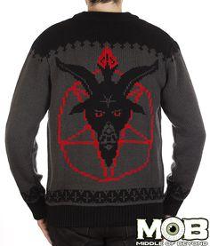 Goat Head Pentagram Satanic Cardigan from MIDDLEOFBEYOND.COM #middleofbeyond