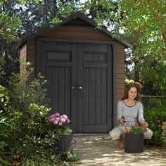 Wood Plastic Composite Sheds. Keter Fusion 7.5 X 4 Ft Patio Shed. Read The