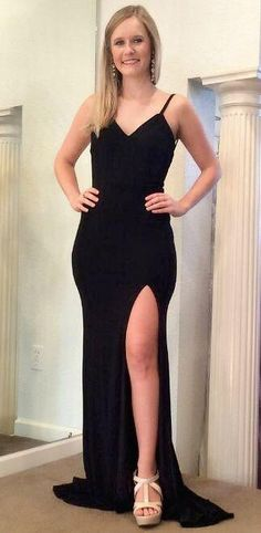 1e226e6322 2019 Prom Dress Long Black Color, Dance Dresses, Graduation School Party  Gown, DT0244