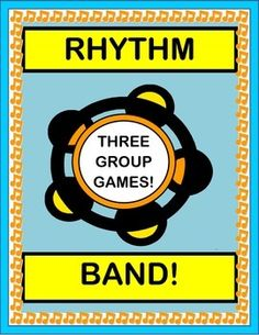 Play THREE ACTIVE GROUP GAMES! Learn three simple SONGS that vary the rhythm, direction, and volume of your Rhythm Band instruments, purchased or home-made. Bring the MUSIC, and lose the chaos! (14 pages) RHYTHM INSTRUMENT GROUP GAMES from Joyful Noises Express TpT! $
