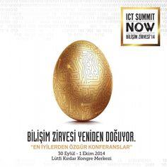 ICT Summit NOW Bilişim Zirvesi'14 / 30 Eylül-01 Ekim 2014 Lütfi Kırdar Kongre Merkezi - En İyilerden Özgür Konferanslar #ICTSummitNOW #BilisimZirvesi #Etkinlik #Zirve #istanbul