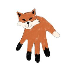 """Made these with all the kids at Hannah's """"What does the Fox say"""" party"""