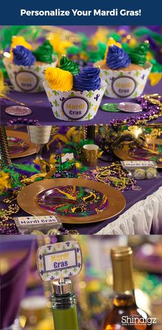 Our Marvelous Mardi Gras Favor Bags feature a repeating design of the words MARDI GRAS along with your wording printed on the cardboard toppers. Fill the Marvelous Mardi Gras Favor Bags with candy, snacks and other fun treats for your celebration.