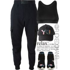    Alexander Wang + Y-3    by fuckedchanel on Polyvore featuring polyvore, fashion, style, Alexander McQueen, T By Alexander Wang, Y-3 and tomboy