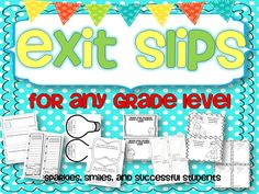 Sparkles, Smiles, and Successful Students: FREE Formative Assessment for ANY Grade Too Cool For School, School Fun, School Ideas, School Stuff, School Classroom, Classroom Activities, Future Classroom, Classroom Ideas, Teacher Tools