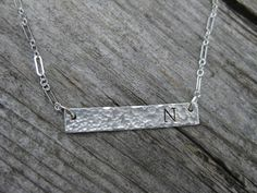 Hammered Bar Personalized Sterling Silver Necklace by ESDesigns14, $20.00 www.ESDesigns14.etsy.com