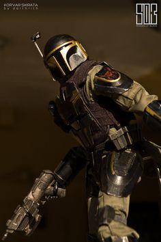 Kal Skirata-Mandalorian mercenary hired to train clone commandos on Kamino. Skirata trained squads like Theta and Omega squads. Unlike Walon Vau, Skirata is not physically violent, almost the opposite. However Skirata is not an all-kind man.