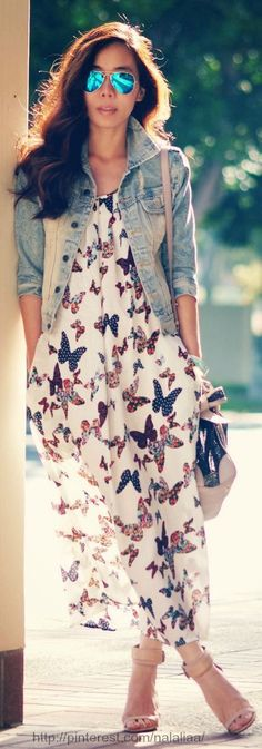 Butterfly print dress, Miu Miu bag
