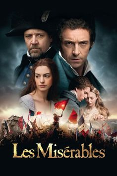 Set against the backdrop of 19th-century France, Les Miserables tells the story of ex-prisoner Jean Valjean (Hugh Jackman), hunted for decades by the ruthless policeman Javert (Russell Crowe), after he breaks parole. When Valjean agrees to care for factory worker Fantine's (Anne Hathaway) young daughter, Cosette, their lives change forever.
