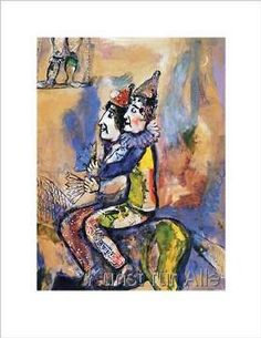 Marc Chagall - Zwei Clowns zu Pferde