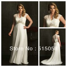 Online Shop Elegant Lace Covered Back Cap Sleeves Maternity A-line Plus Size Wedding Dress 2014 New Bridal Gowns For Pregnant And Fat Women Chiffon Wedding Gowns, Wedding Dress 2013, Plus Size Wedding Gowns, Pregnant Wedding Dress, Cheap Wedding Dress, Pregnant Dresses, Pear Shaped Dresses, Bride Gowns, Elegant