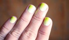 Gradient nails avec Con Limon et Glowstar de Floss Gloss sur Bec et Ongles