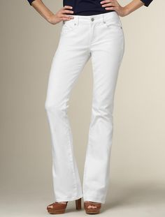 Talbots - Curvy Fit White Wash Bootcut Five-Pocket Jean | | Apparel   48
