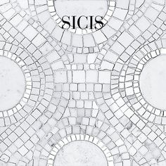 Classic White Marble Collection - Color selection: CW21 #Sicis #Mosaic #Architecture #InteriorDesign