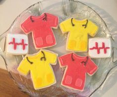 Nurse Scrub tops and EKG strip cookies