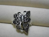 Unique Beautiful Silver Butterfly Ring $15.00