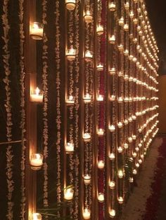 Wall with candles and floral nighttime decor - Best Picture For winter wedding ceremony decorations For Your Taste You are looking for something, and Decoration Hall, Wedding Hall Decorations, Desi Wedding Decor, Marriage Decoration, Wedding Entrance, Wedding Mandap, Wedding Venues, Wedding Ceremony, Wedding Ideas