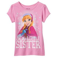 "Disney Frozen Anna ""I'm The Little Sister"" Tee - Girls 4-6x"