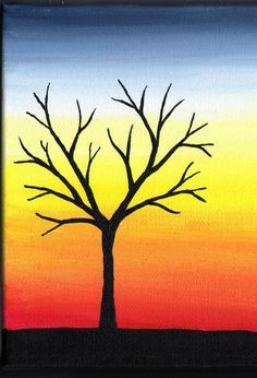 acrylic canvas painting for beginners | Reminds me of one my Daddy did