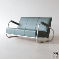 Art Deco Streamline Sofa, U.S.A, 30er